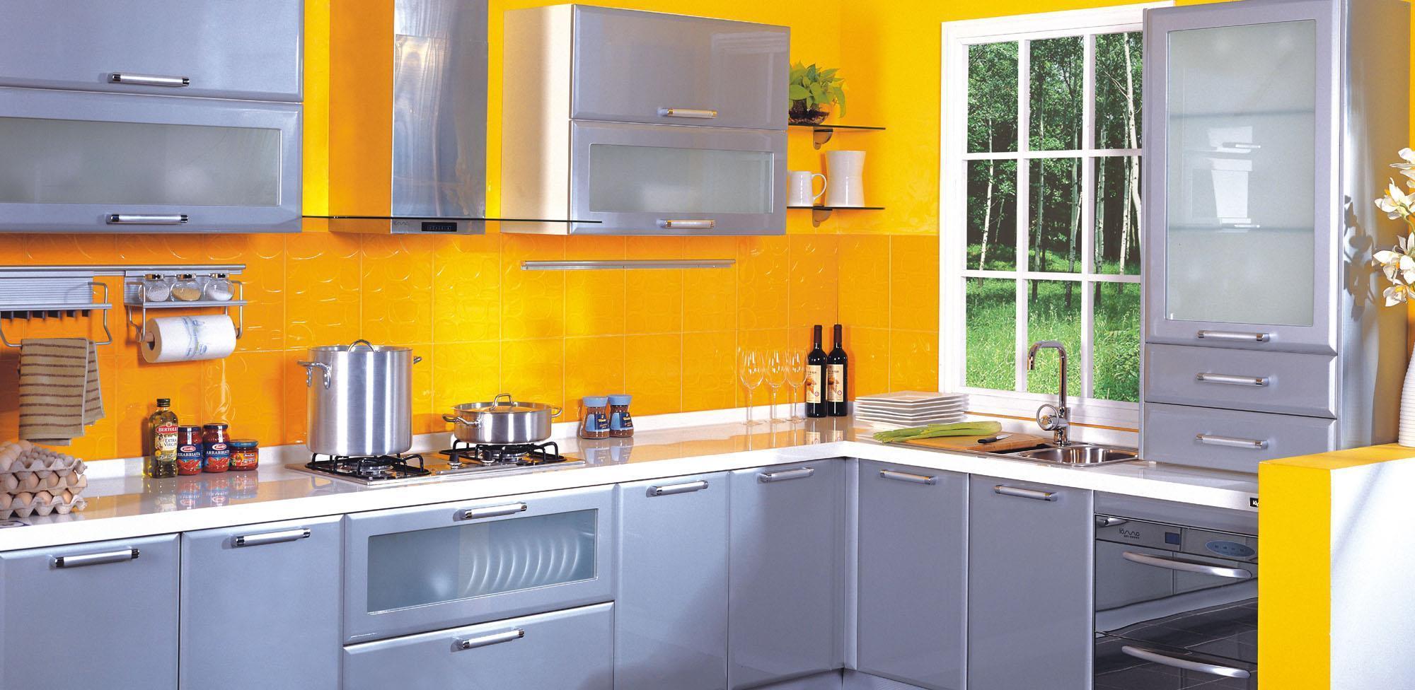 蓝谷智能厨房银影系列LE-3002 L型封闭式K型厨房LE-3002 L型