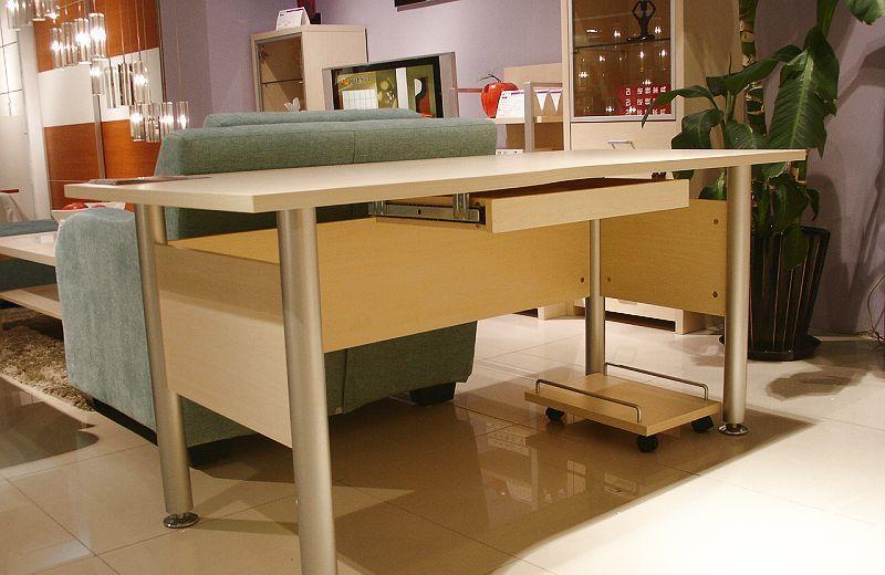 诺捷书房家具电脑桌1600*802*735mm白枫