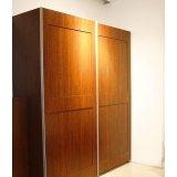 诺捷卧室家具衣柜推拉柜8A502-L/B+8A302-LB花梨
