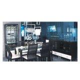 华源轩餐厅餐边柜黑橡配白系列U312