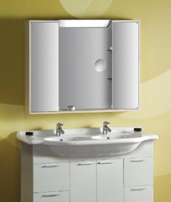 乐家卫浴维多利亚系列台柜1025(木纹白色)8507850760606