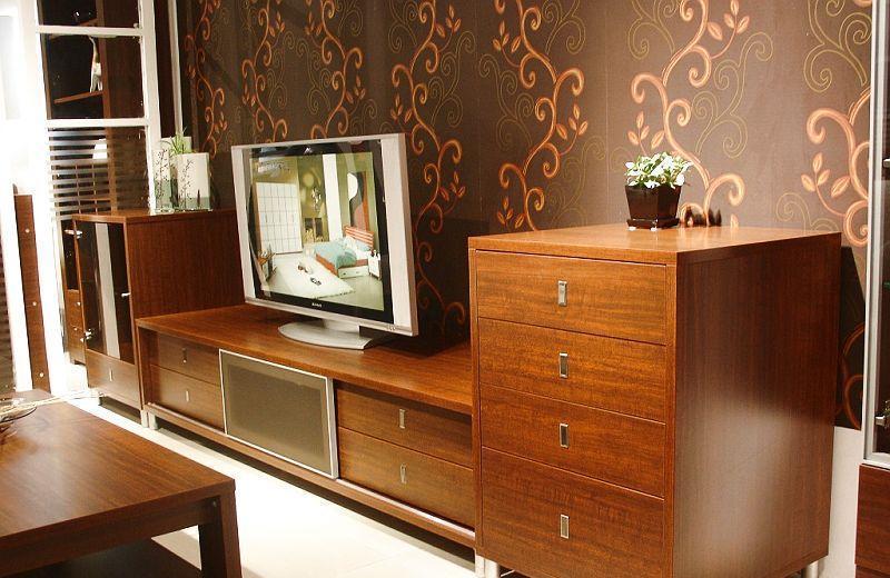 诺捷客厅家具电视柜组合厅柜6F004花梨木色6F004