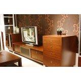 诺捷客厅家具电视柜组合厅柜6F004花梨木色