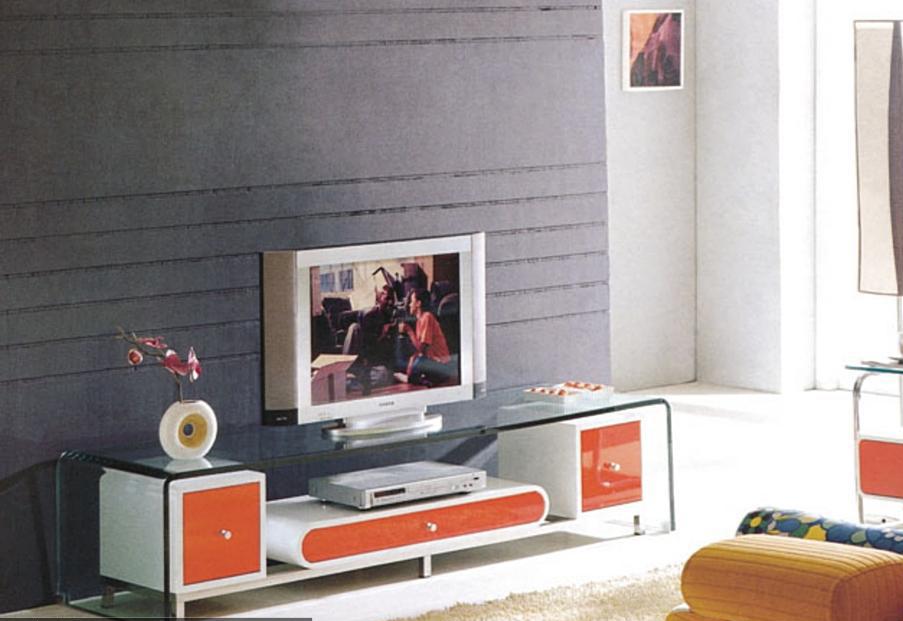 朗臣简约时尚系列698橘红电视柜