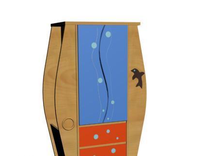爱心城堡儿童家具衣柜J002-WR1-CLJ002-WR1-CL