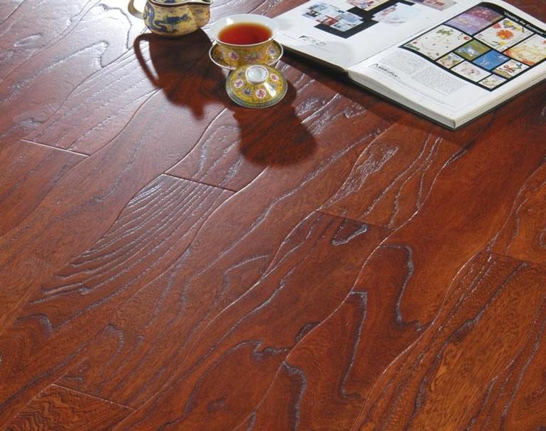 新绿洲曲线仿古系列大河神韵实木地板