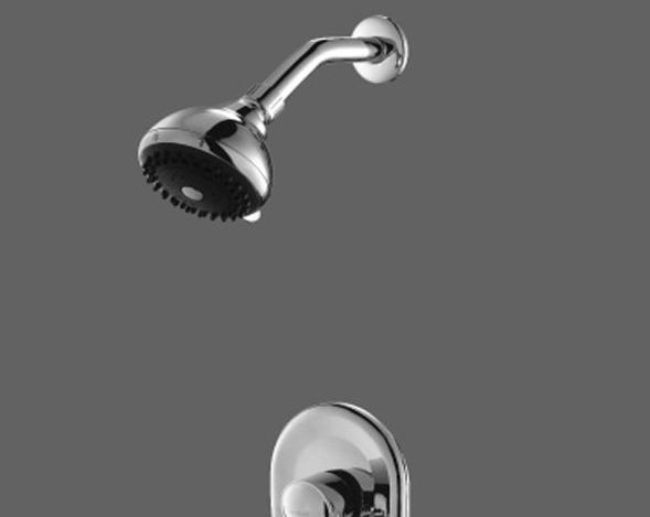 美加华M-3709C单把入墙式喷淋浴龙头(纯铜镀铬)M-3709C