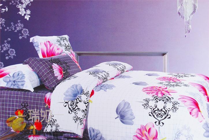 瑞如家纺环保活性印花精梳棉婚庆床上用品HX16四
