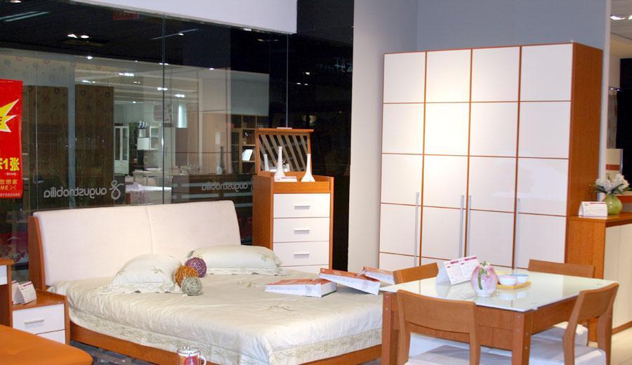 奥格卧室家具床A14床头AG-B液压床身A14