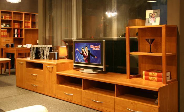 健威家具-加州缘系列-梨木电视柜(两层)梨木电视柜(两层)