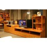 健威家具-加州缘系列-梨木电视柜(两层)