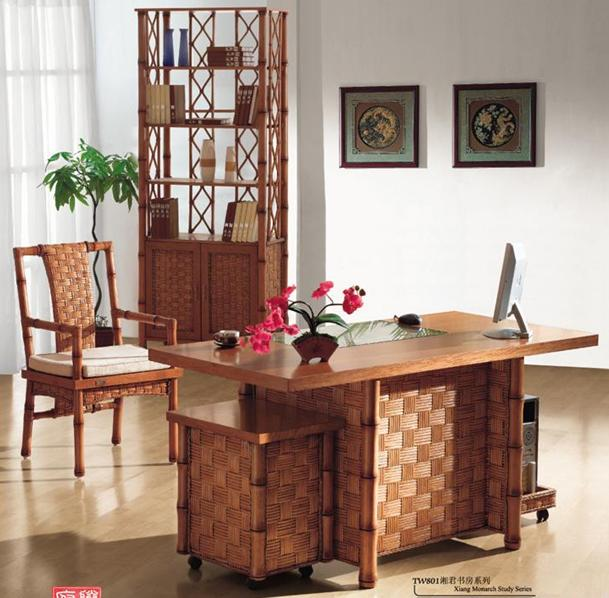 藤王府湘君书房系列TW801组合家具