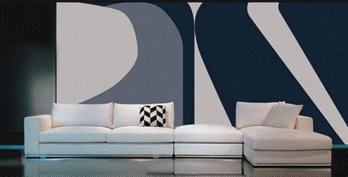 北山家居客厅家具转角沙发1SD0415AD组合1SD0415AD