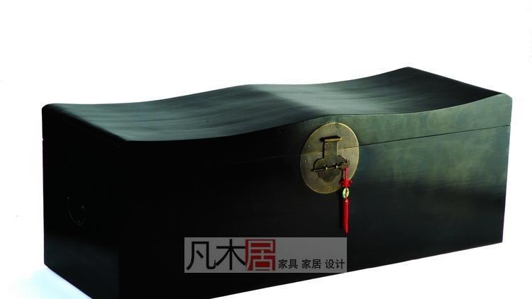 凡木居现代中式系列A8003波浪形躺箱TK06A8003