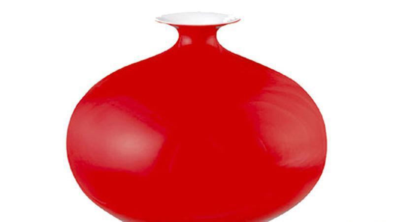 国瓷永丰源纯色满堂红金尊瓶