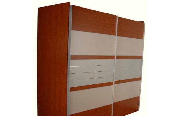 奥格美国红樱桃套荷花白色系列A01二门推拉衣柜A01二门推拉衣柜