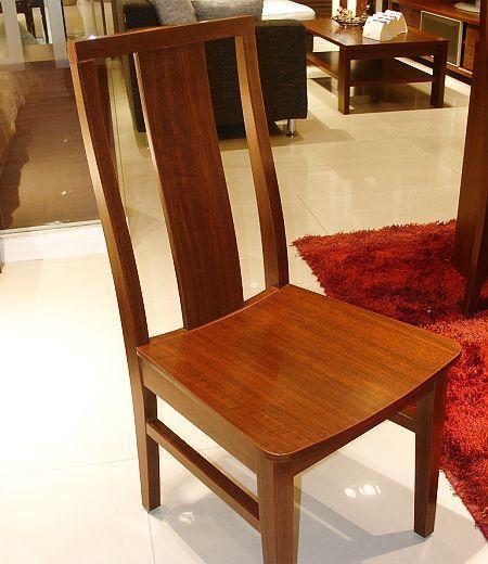 诺捷餐厅家具餐椅8P012花梨木色(无坐垫)8P012