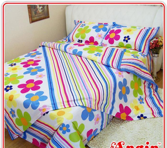 安寝家纺幸福花语高级斜纹床上用品四件套幸福花语