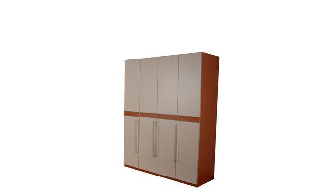 奥格美国红樱桃套荷花白色系列A05衣柜配AG3门型A05衣柜