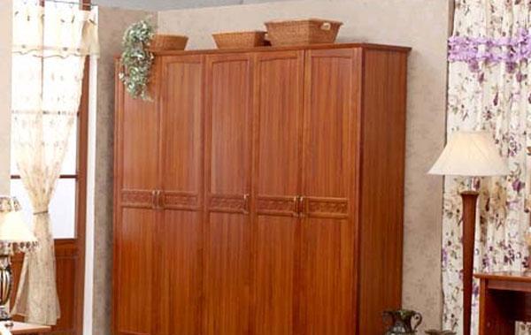 树之语水木年华系列-深色YG9801五门衣柜<br />YG9801