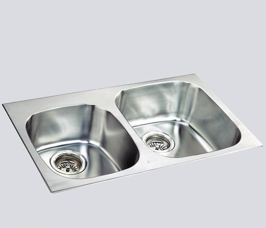 得而达双槽不锈钢水槽(双孔)SS12019SS12019