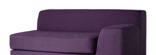宜家带扶手右克莱弗(淡紫色/深灰色/ 深青绿色/ 黄色)双人沙发
