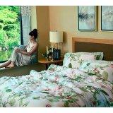 罗莱家纺全天丝缎纹印花双人加大床单四件套-绿野仙踪