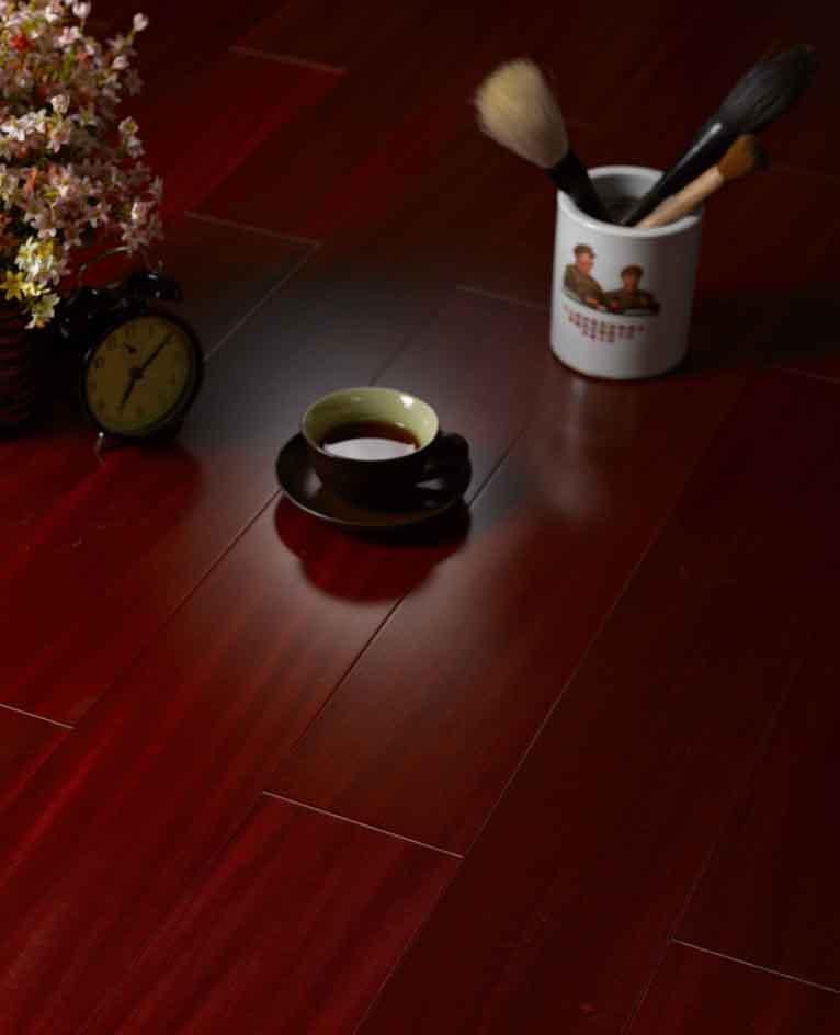 富林实木系列满江红红檀香实木地板满江红红檀