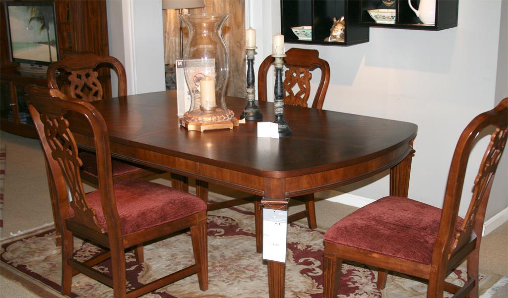 美克美家方抽拉餐桌新传统MK59-6011MK59-6011