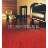 明成纽敦豆实木地板(红色亮光)
