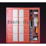 多尔贝天然胡桃木整体衣柜