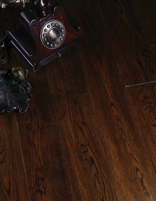 富林拉斐尔·神话系列手刮仿古金棕栎木地板