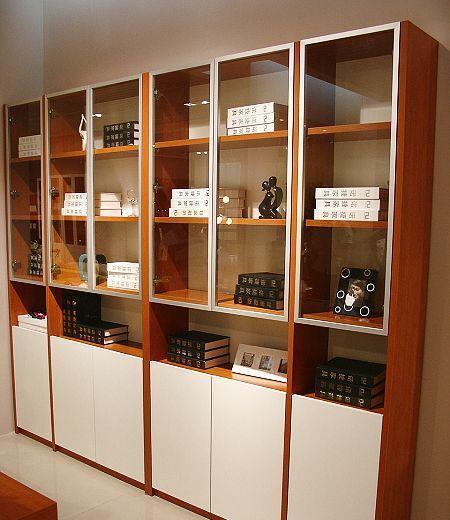 诺捷书房家具书柜2570*300*2118mm红樱桃