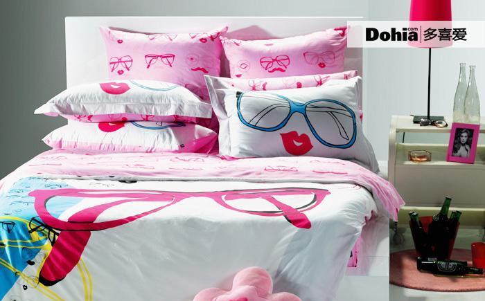 多喜爱多彩视觉时尚纯棉床品四件套多彩视觉