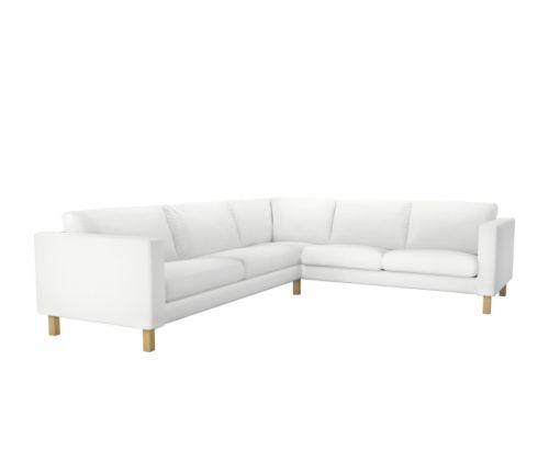 宜家2+3/ 3+2卡斯塔(布勒丁 白色) 转角沙发