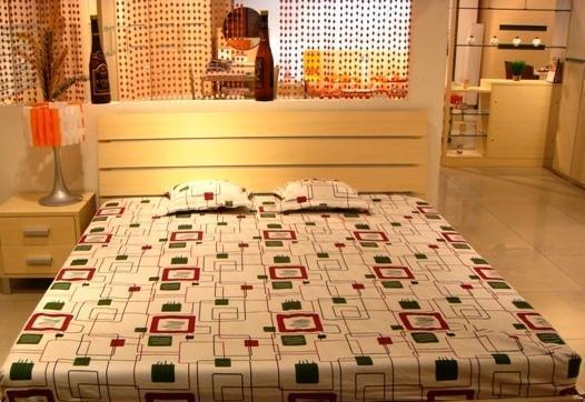 五木板式家具系列-双人床架-WD-38