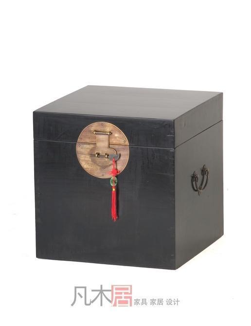 凡木居现代中式系列A8002小方躺箱TK02A8002