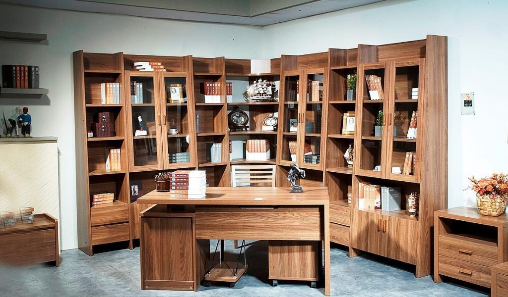 华源轩-书房家具-白榉系列-三门书柜-B2801CB2801C