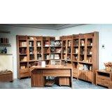 华源轩-书房家具-白榉系列-三门书柜-B2801C