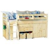 丹麦芙莱莎儿童家具中高床组合MAIKE2(本木色)