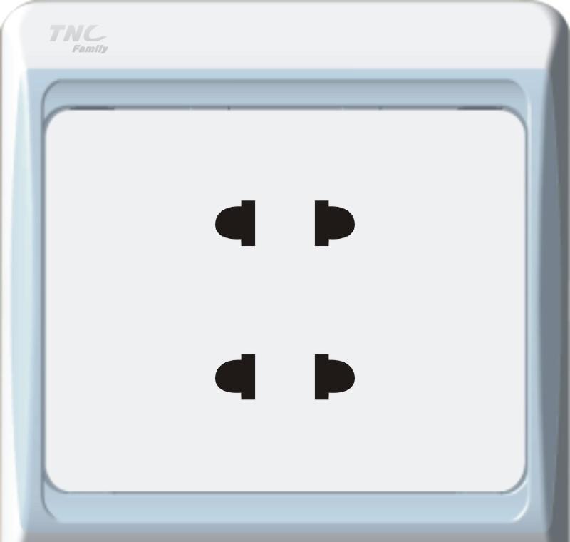 TNC A系列二二极插座(银色)