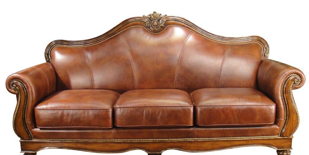 福溢法兰西风情F0909-322P三人沙发(皮)