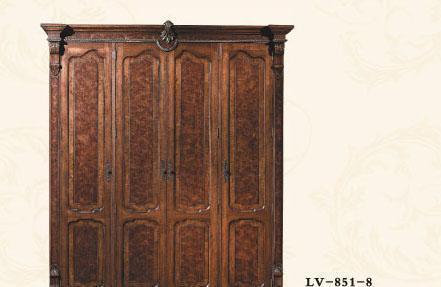 大风范家具路易十六卧室系列LV-851-4四门衣柜LV-851-4四门衣柜