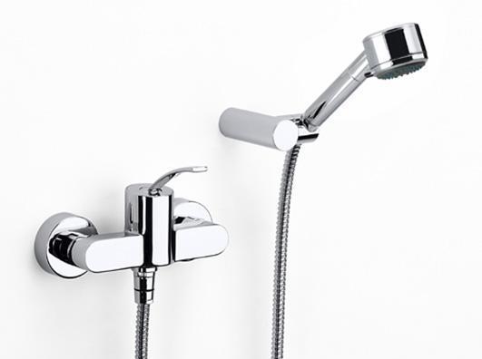 乐家卫浴摩爱系列挂墙式淋浴龙头5A2046C0N5A2046C0N