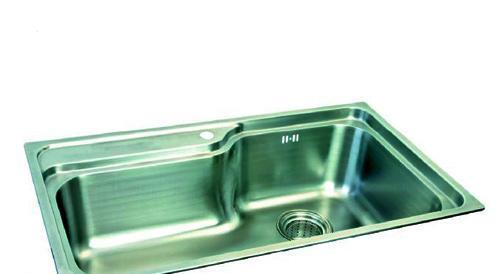得而达单槽不锈钢水槽 (双孔) SS18001