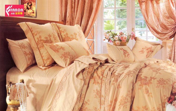 法诺雅床上用品四件套婚庆全棉贡缎ZN35ZN35