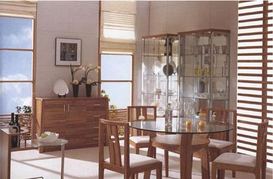 森盛家具餐厅套装浅胡桃系列32(餐台)Q7001