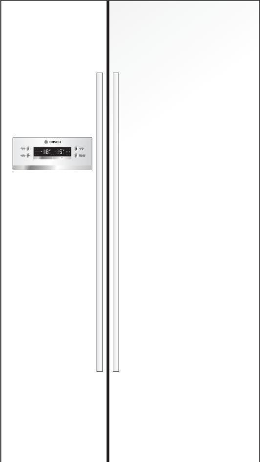 博世至尚对开门冰箱KAN62V20TI