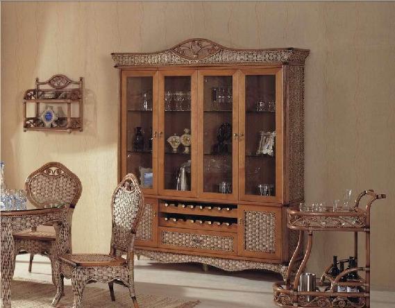 翡翠藤器酒柜2件套索菲亚索菲亚