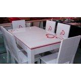 龙森651亮光烤漆餐桌